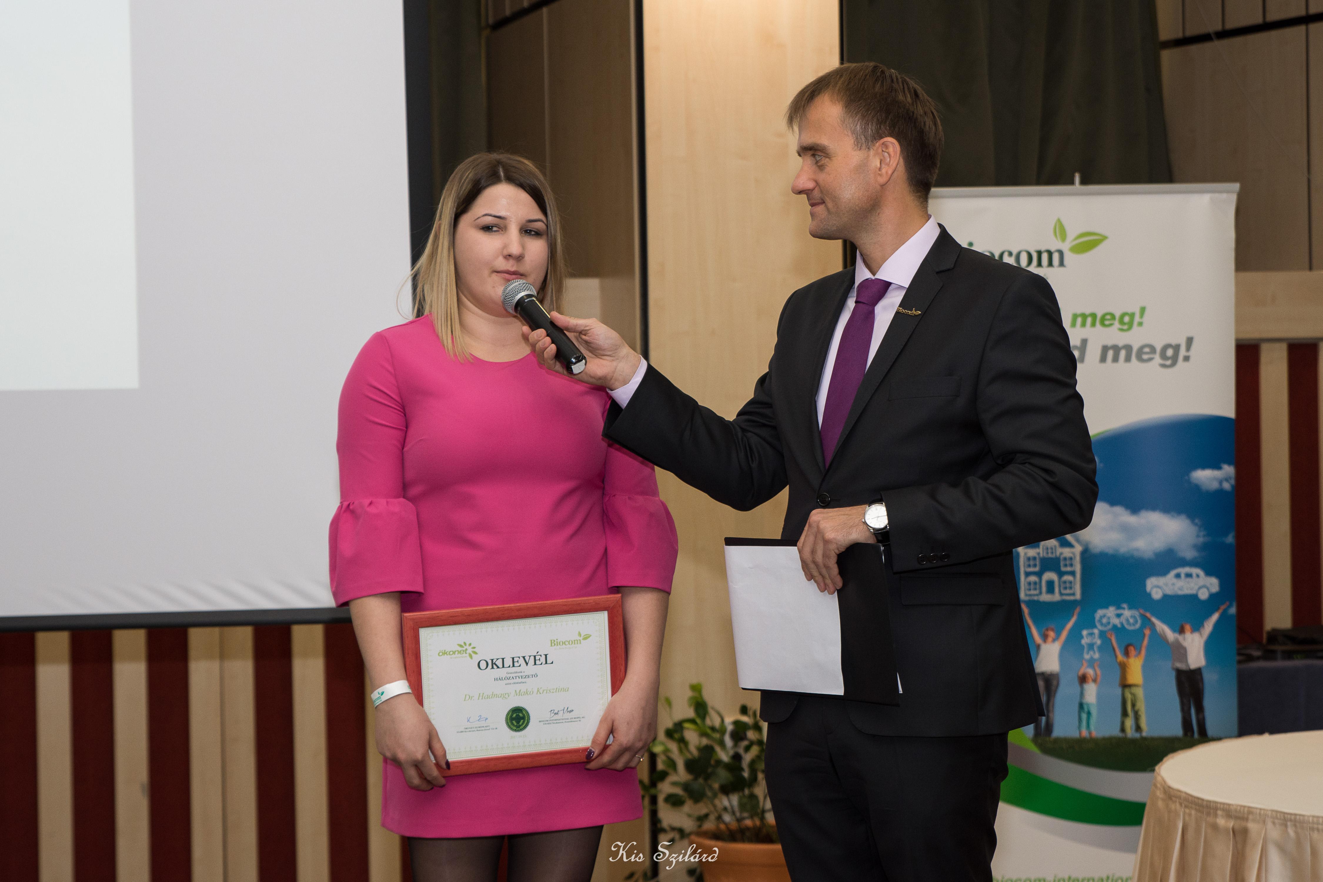 Dr. Hadnagy Makó Krisztina új HV nyilatkozik (szponzora: Madaras Gyöngyike, Csibi-ág)